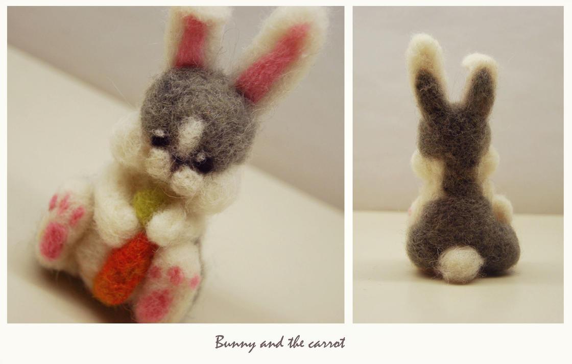 Felted Bunny by leKikwi
