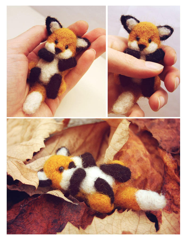 Felted Fox by leKikwi