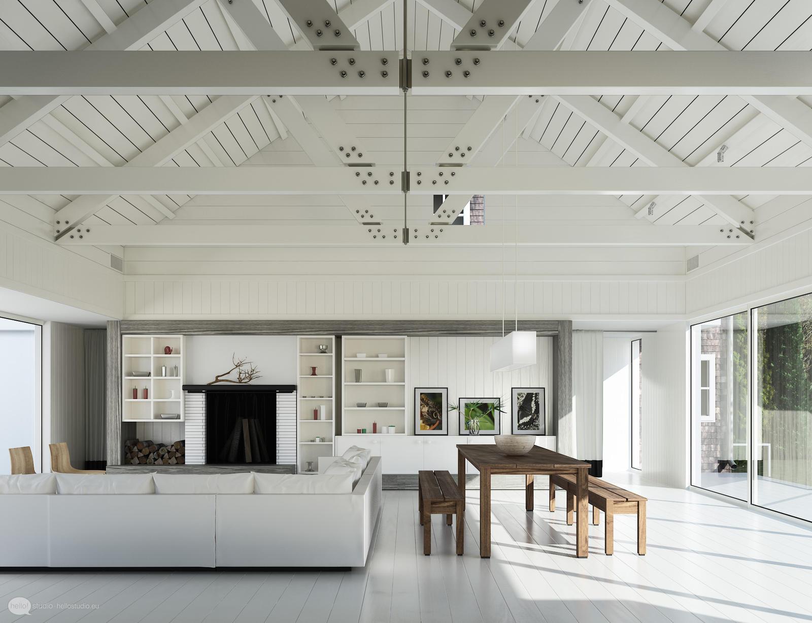Evermotion white Living room