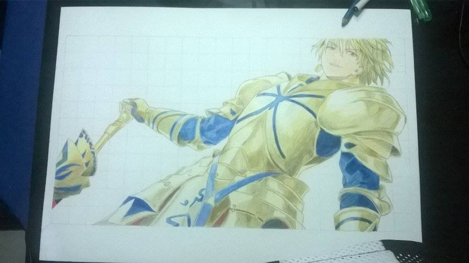 Fate Zero - Gilgamesh and Diarmuid WIP [1/4] by AddictPhoda