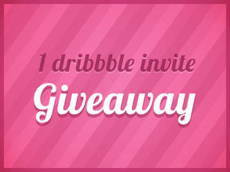 Dribbble Invite Giveaway by JJ-Ying