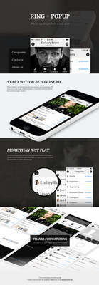 Ring and Popup App Design