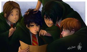 Moony, Wormtail, Padfoot and Prongs