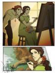 Alma paints the lion [+ Extra]