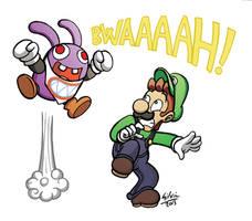 Luigi Raving Nabbits by WildGirl91
