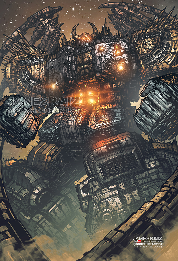 MOST DETAILED DRAWING EVER of UNICRON - FULL COLOR