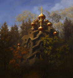 church in a forest