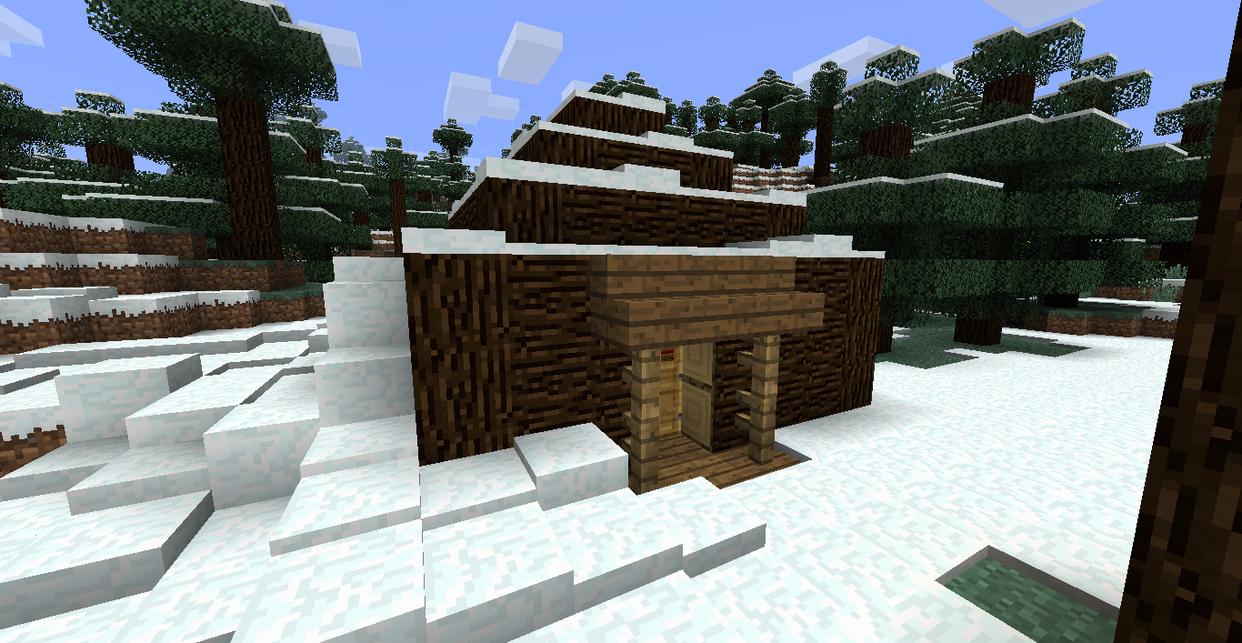 Minecraft Log Cabin ~ Minecraft log cabin by mdk on deviantart