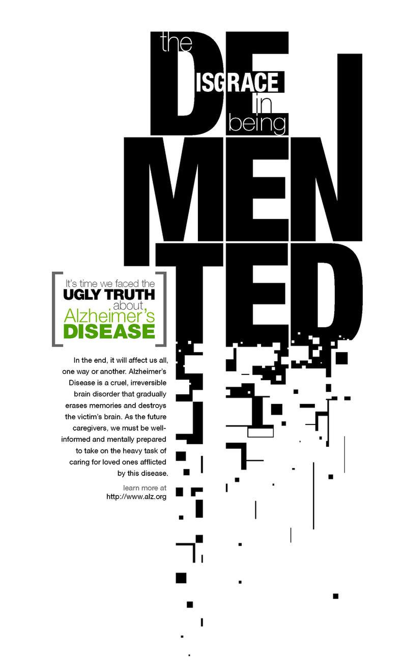 Alzheimer's Awareness Poster by STDesigns