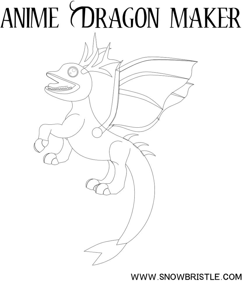 Line Drawing Maker : Anime dragon maker line art by snowbristle on deviantart