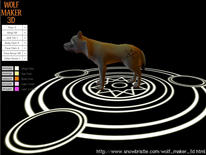 Wolf maker 3d interface by snowbristle on deviantart for 3d art maker online