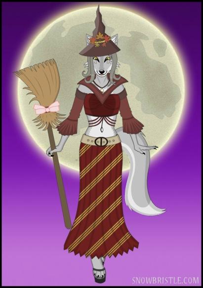 Witch Fursona Wolf Maker Art by Snowbristle on DeviantArt