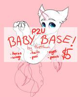 P2U BABY PONY BASE! $5 by PlnetFawn