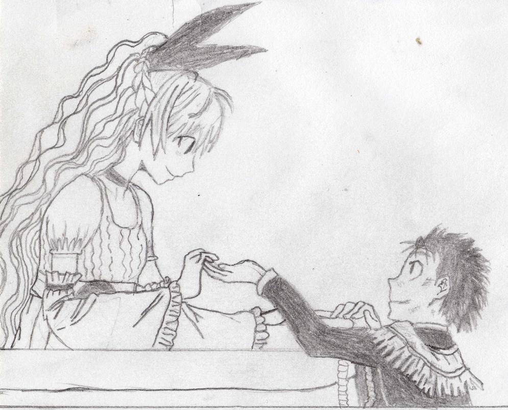 romeo and juliet balcony scene drawing