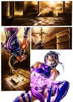 Psylocke comic color ver by cric