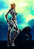 Brenna before the adaptoid by cric