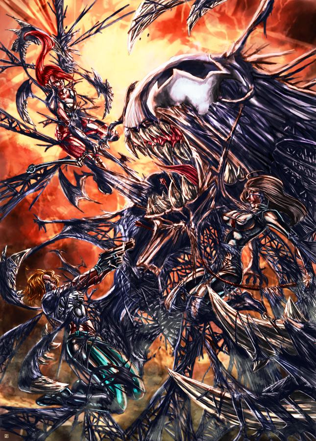 Danger Girl Vs Symbiote by cric
