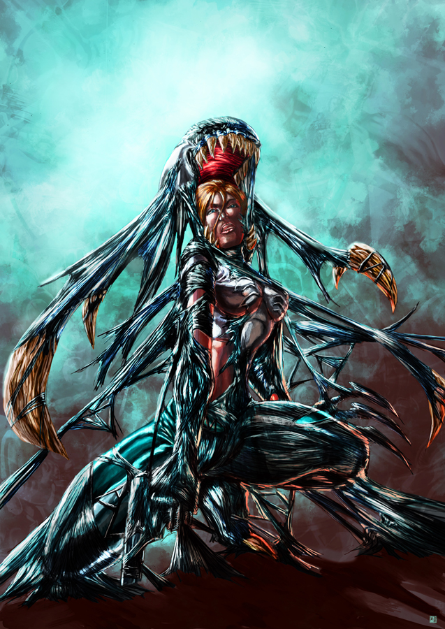 Abbey Chase Symbiote by cric
