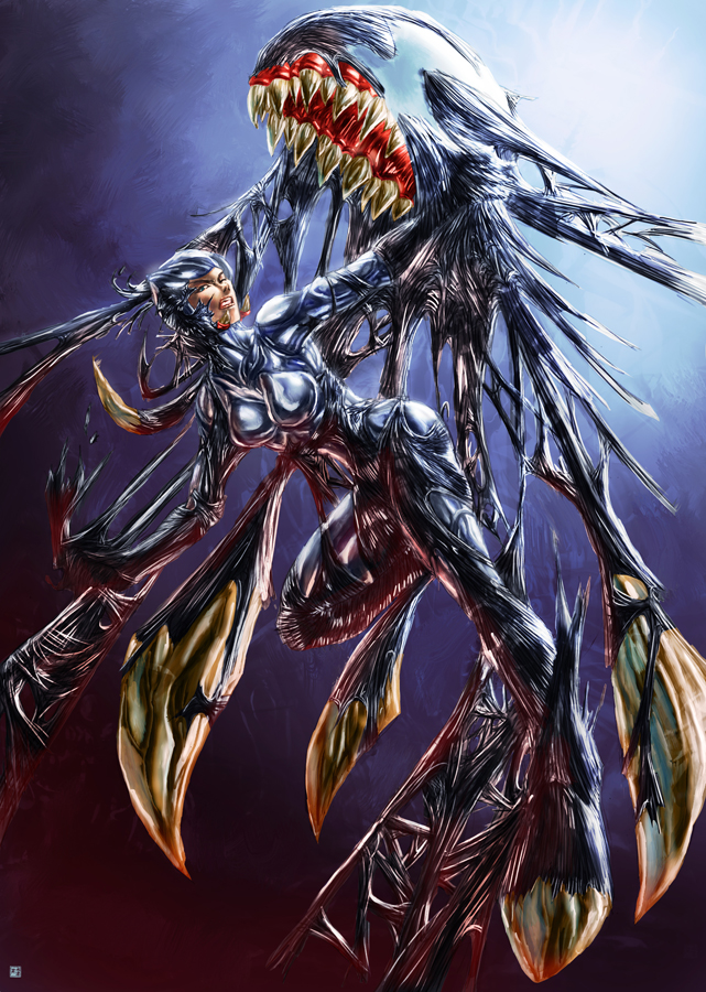 Displaying (19) Gallery Images For Symbiote Queen Black Cat...