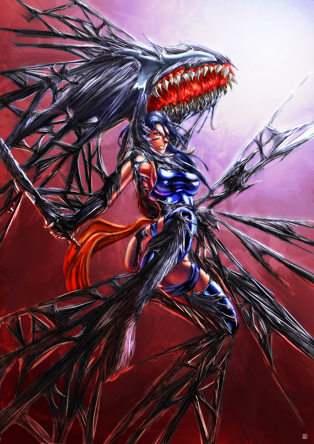 Psylocke Symbiote by cric