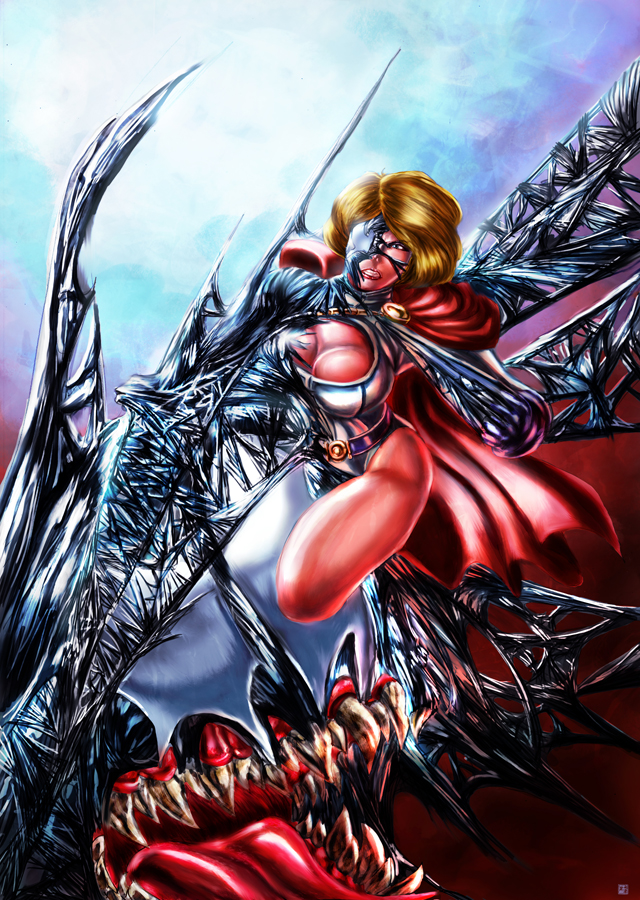 Power Girl Symbiote by cric