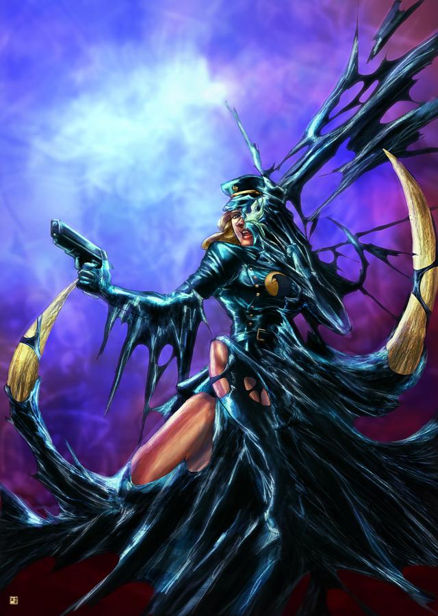 Lady blackhawk symbiote by cric