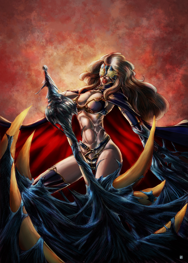 Lady Death symbiote by cric