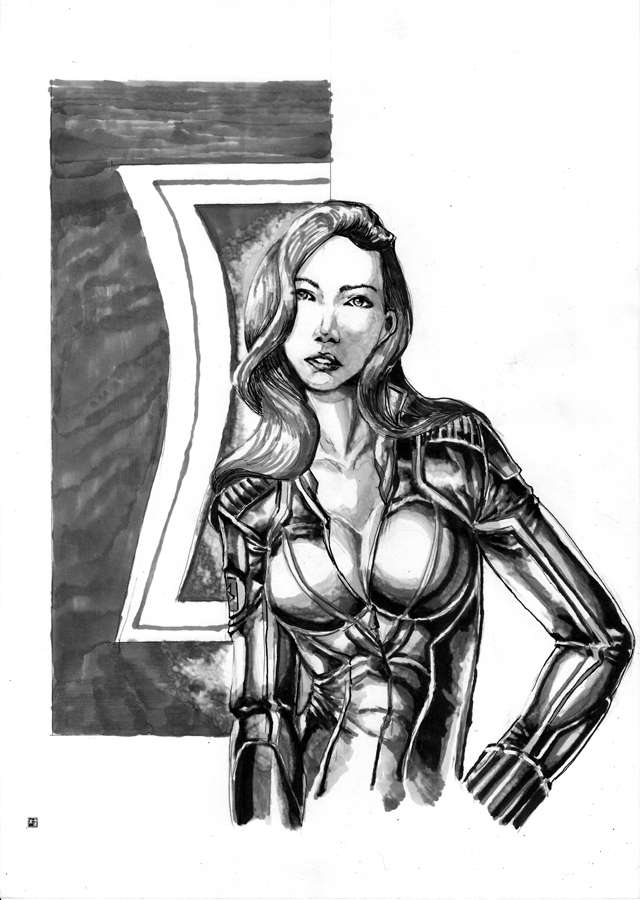 Black Widow copic by cric