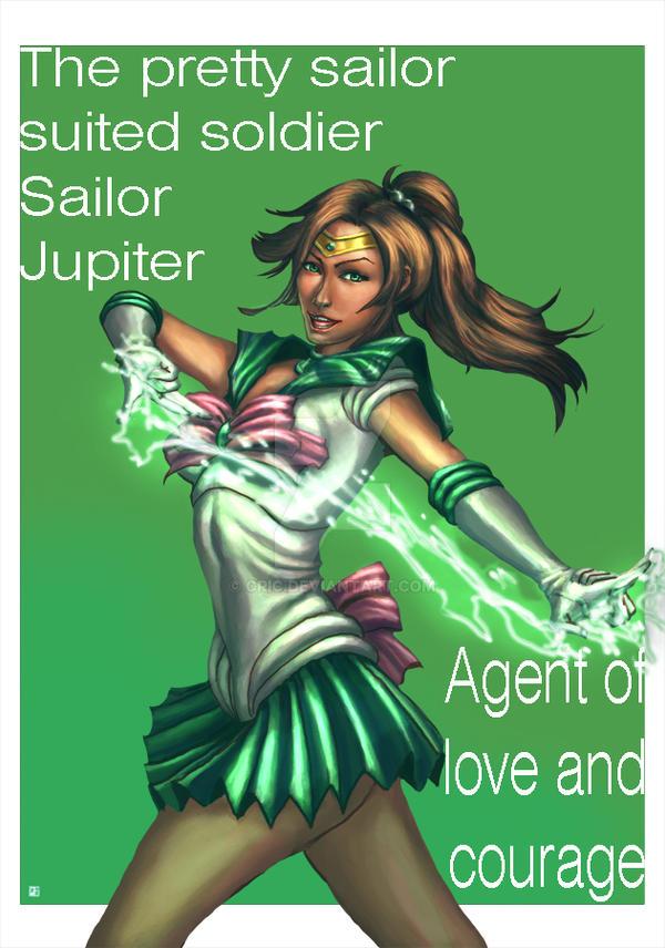 Sailor Jupiter comicon print by cric