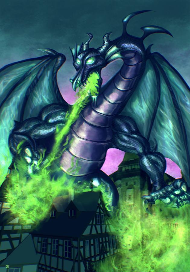 Maleficent Dragon Wallpaper Maleficent Dragon by c...