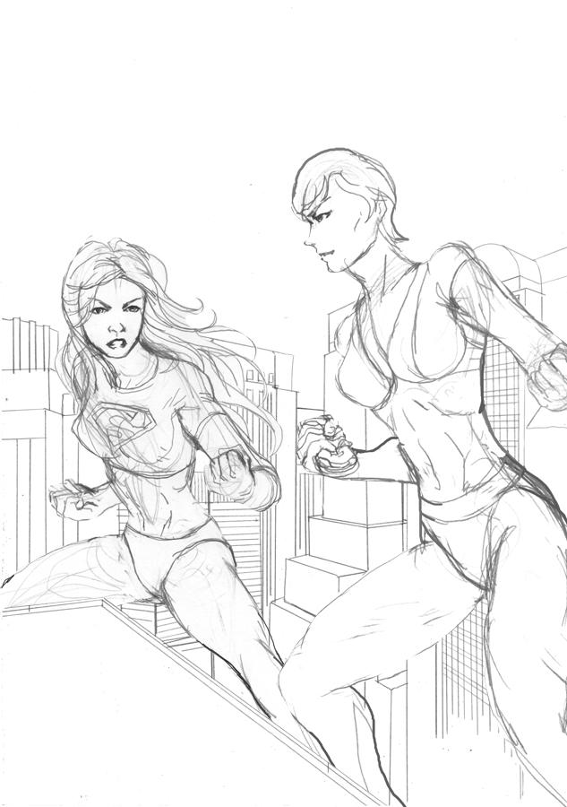 Supergirl Ursa Sketch by cric