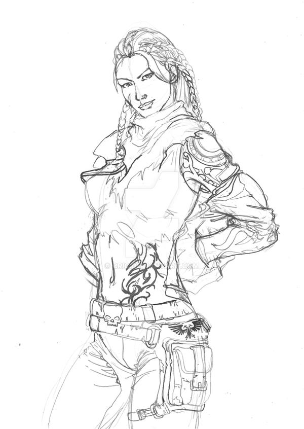 Lily Wrenk sketch by cric