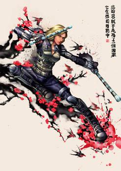 Black Widow x Chinese painting