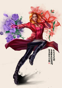 Scarlet Witch x Chinese Painting