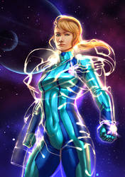 Samus Aran Suits Up by cric