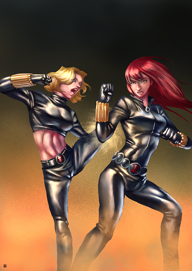 Commission-Black Widows by cric