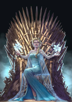 Commission-Iron Throne Elsa