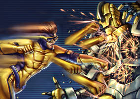 Commission: Gold Rush Vs Destroid
