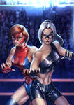 Commission- SLOW: Spider-Ladies of Wrestling by cric