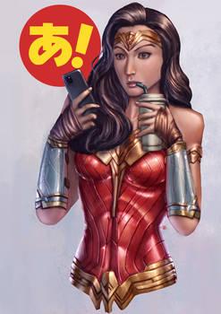 Wonder Woman being Candid
