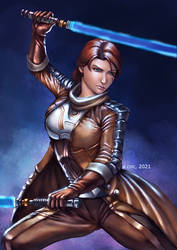 Commission - Ang'Agon, the Dual Saber Jedi