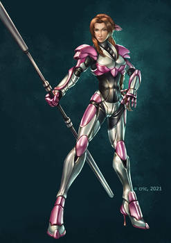 Commission- Hi Tech Armor Aerith