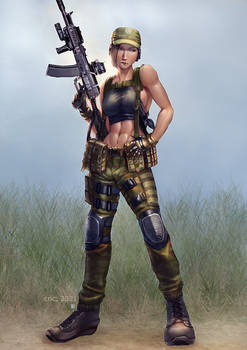 Commission- Escape from Tarkov Pin Ups BEAR girl