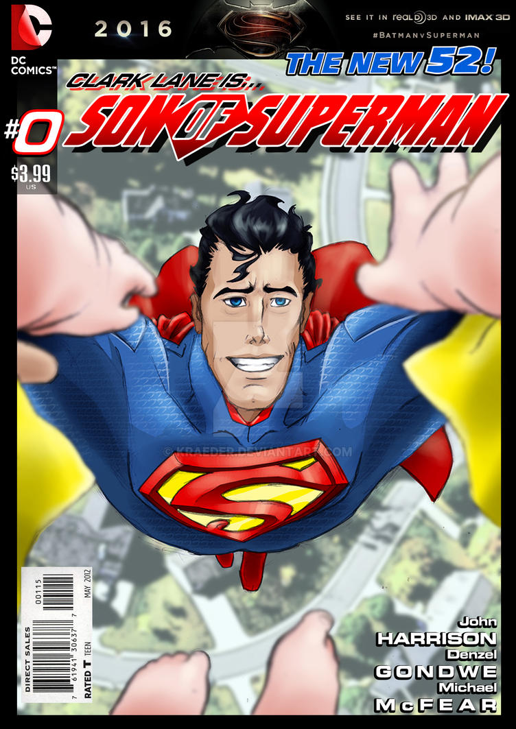 Son of Superman #0 cover - Baby's Day out by KRAEDER