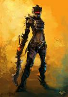 Female Warrior - ch-r concept
