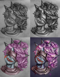 from a traditional sketch to a digital painting
