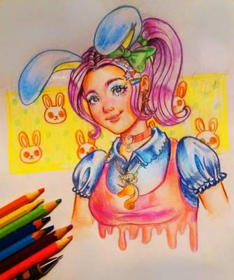 some sort of pastel kawaii loli by Crishi
