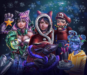 group photo for the holiday season ^w^ by Crishi