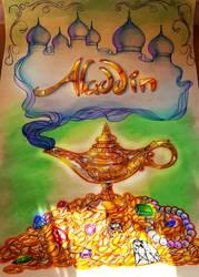 aladdin poster thingy by Crishi