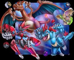 Pokemon going in battle by Crishzi